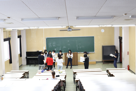 保育内容指導法 授業の様子